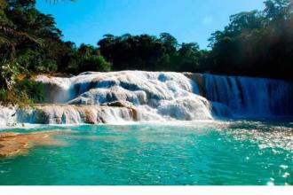 Cascada de Agua Azul, Cascada de Misolha Y Zona Arqueolica de Palenque- SCL
